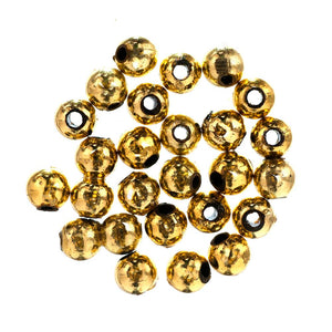 Extra Value Plated Beads: 5mm: Gold: Packs of 200g