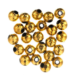 Extra Value Plated Beads: 8mm: Gold: Packs of 60g