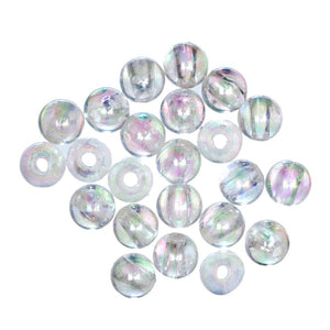 Extra Value Plated Beads: 8mm: Aurora: Packs of 60g