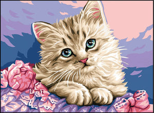 Canvas: Royal Paris: Kitten Flowers