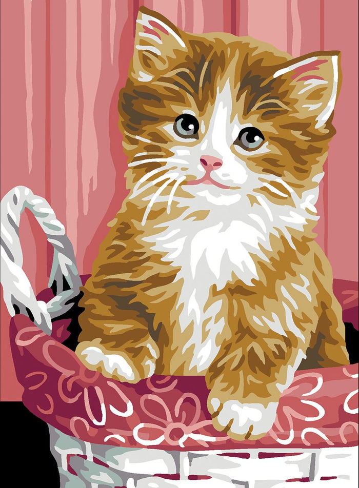 Canvas: Royal Paris: Kitten in Basket