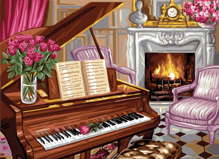Canvas: Royal Paris: Piano Scene