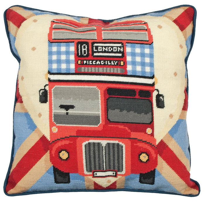 Tapestry Kit: Cushion: Living: Red Bus on Union Jack