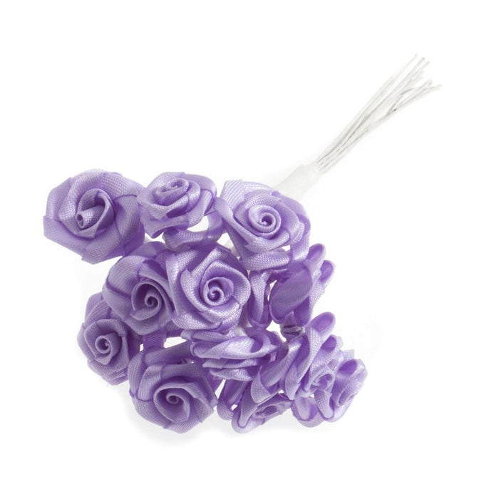 Ribbon Rose: 15mm: Pack of 12: Lilac