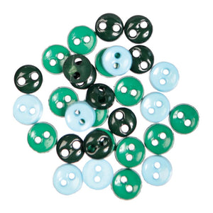 Mini Craft Buttons: Round: Green: 2g