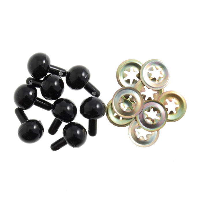 Toy Noses: Ball: 15mm: Black: 100 Pack
