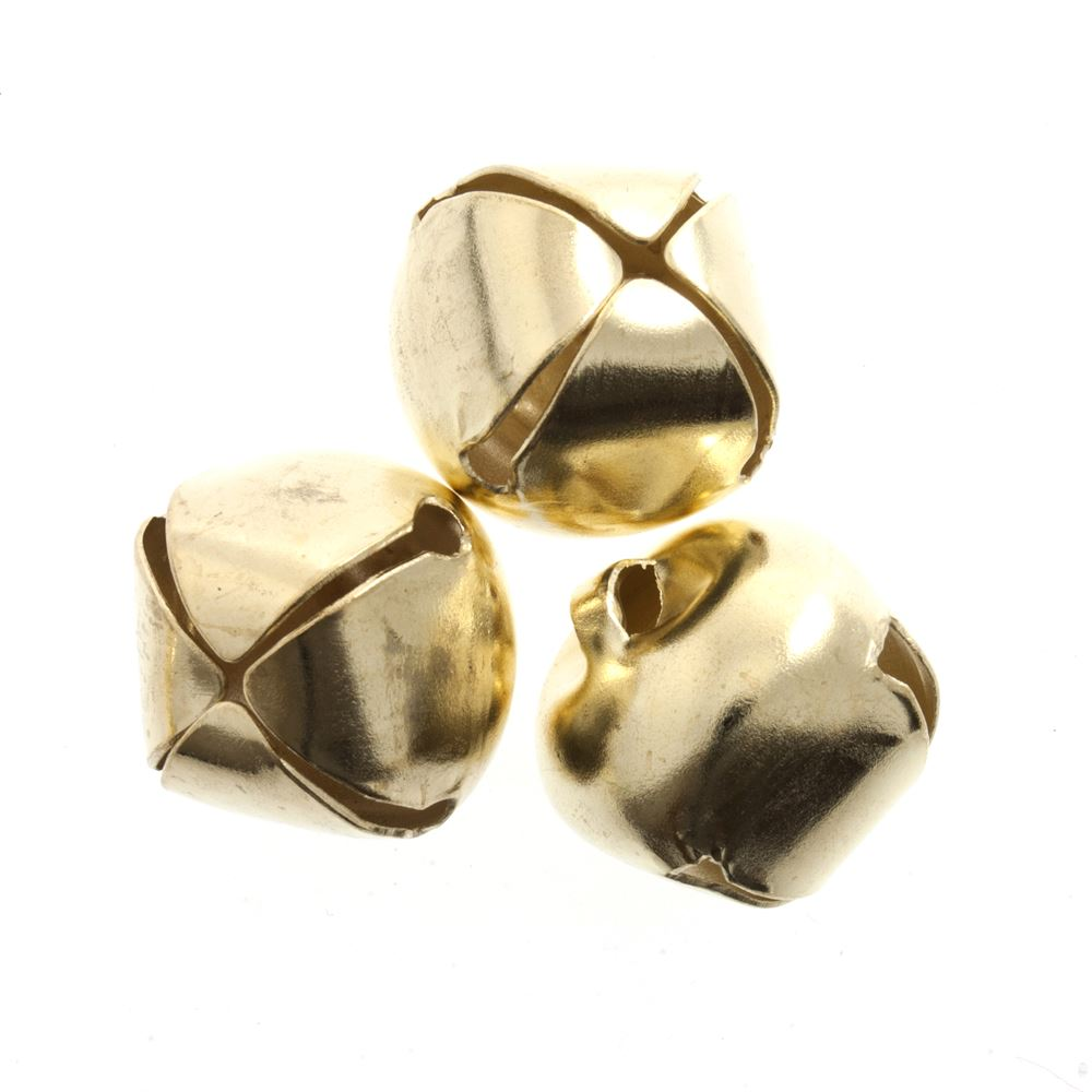 Bells: Jingle: 20mm: Gold: 5 Pack