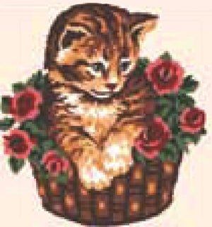 Tapestry Kit: Kitten in Basket