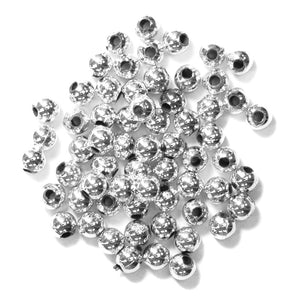 Pearls: 4mm: Silver: Packs of 7g