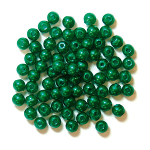 Pearls: 4mm: Green: Packs of 7g