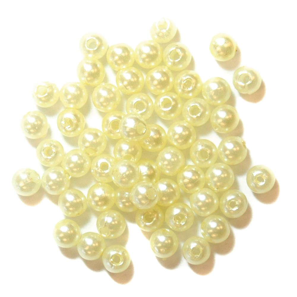 Pearls: 4mm: Cream:  packs of 7g