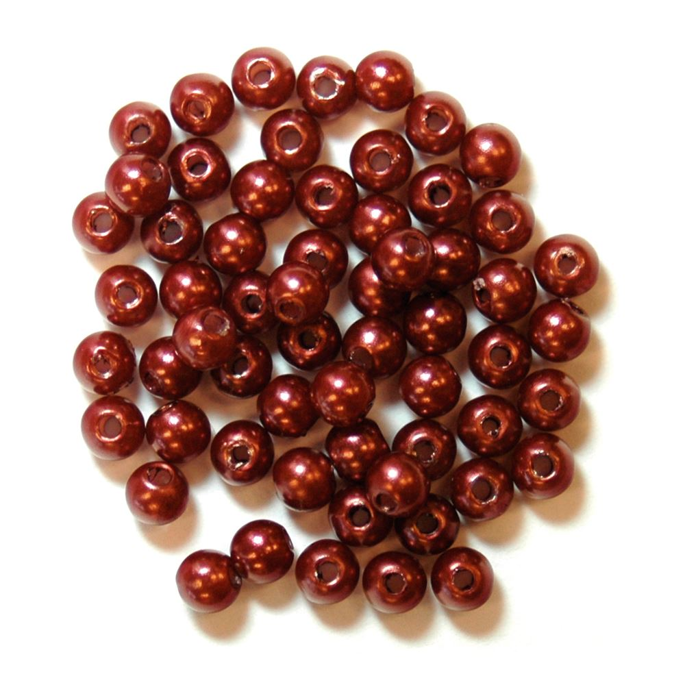Pearls: 4mm: Bronze: Packs of 7g