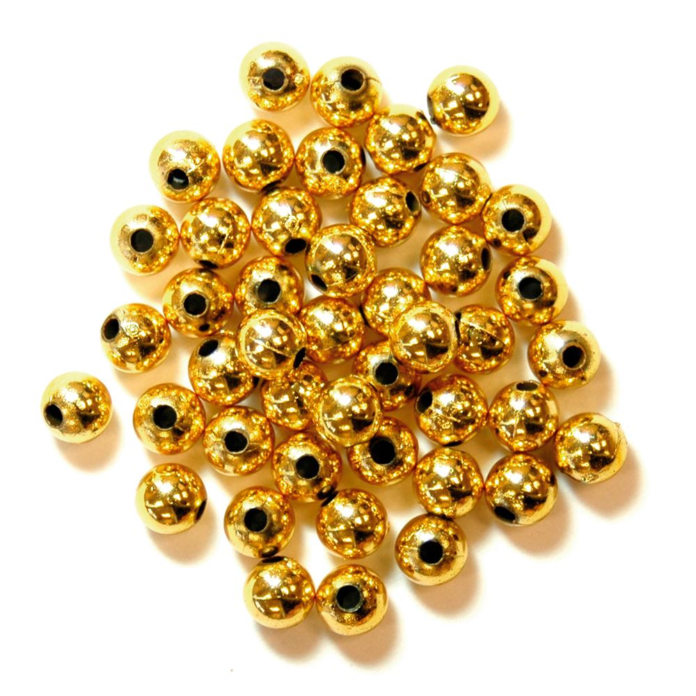 Pearls: 5mm: Gold: Packs of 7g
