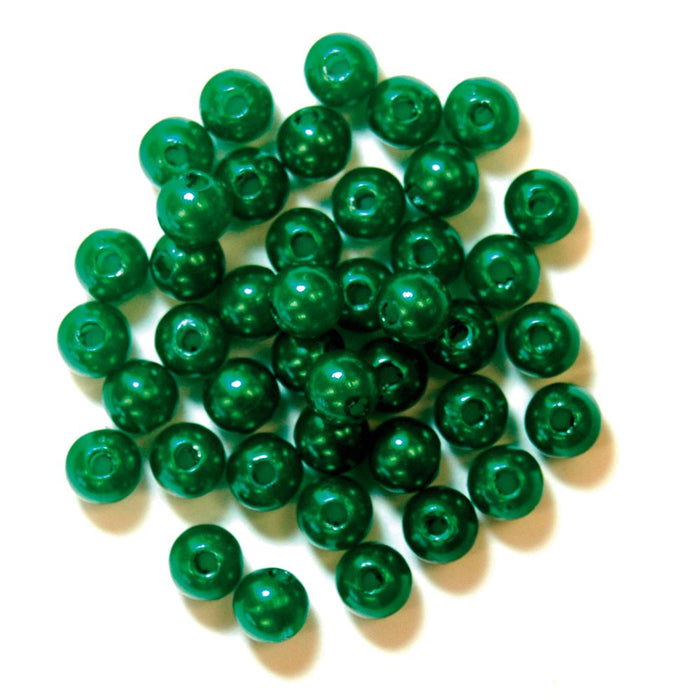 Pearls: 5mm: Green: Packs of 7g