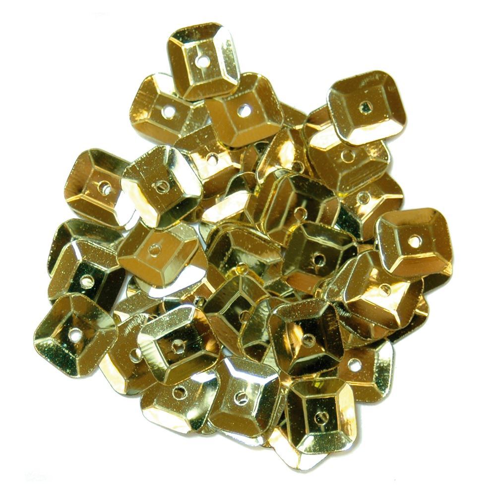 Sequins: Square: 7mm: Gold
