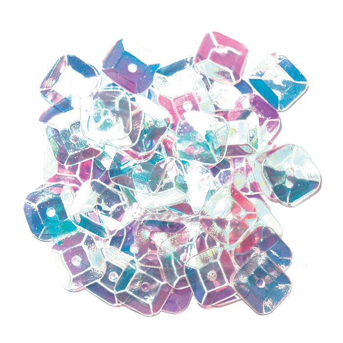 Sequins: Square: 7mm: Transparent