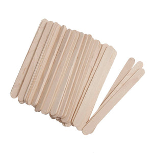 Lollypop Sticks: Wooden: 113 x 10mm: 100 Pieces: Natural