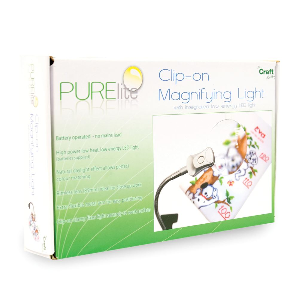 Clip-on Magnifying Lamp