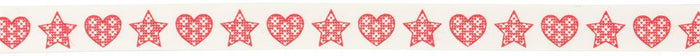 Bowtique Christmas: Knitted Hearts and Stars: 25m x 15mm
