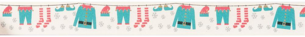 Bowtique Christmas: Elves Washing Line: 25m x 25mm