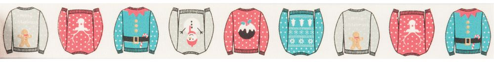 Bowtique Christmas: Christmas Jumpers: 25m x 25mm