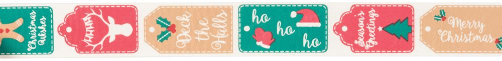Bowtique Christmas: Christmas Tags: 25m x 25mm