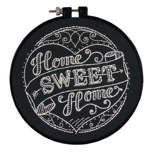 Embroidery Kit with Hoop: Home Sweet Home
