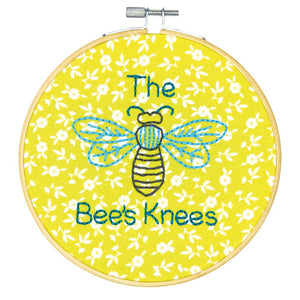 Embroidery Kit with Hoop: Crewel: The Bees Knees