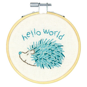 Embroidery Kit with Hoop: Crewel: Hello Hedgehog