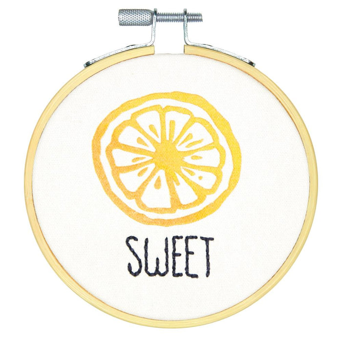Embroidery Kit with Hoop: Crewel: Sweet