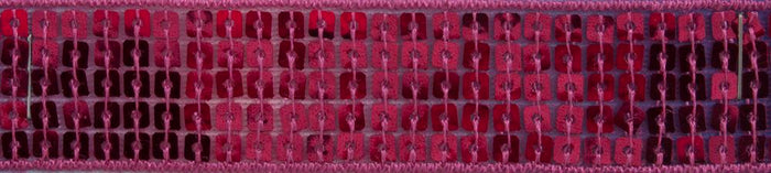 Sequin: Organza Ribbon Trim: 18.2m X 25mm: Fuchsia