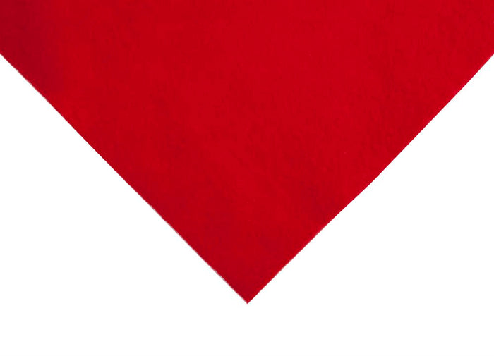 Felt: Acrylic: Roll: 90cm x 9m: Red