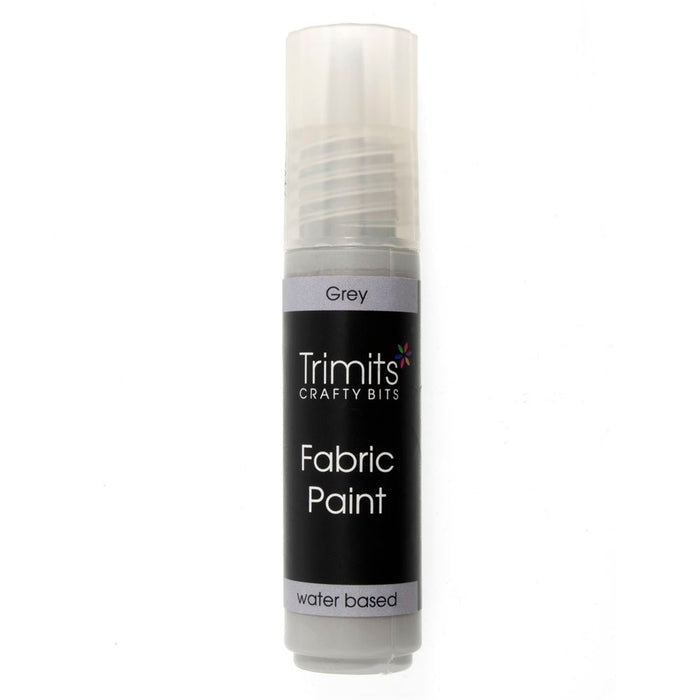 Fabric Paint: Pen: 20ml: Grey