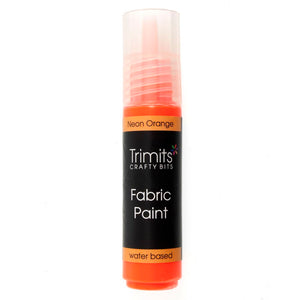 Fabric Paint: Pen: 20ml: Neon Orange