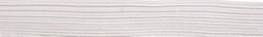 Braided Elastic 300m x 3mm: White