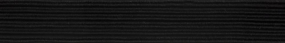 Braided Elastic 250m x 6mm: Black