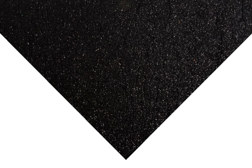 Glitter Felt Sheets: 30 x 23cm: Black