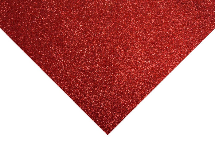 Glitter Felt Sheets: 30 x 23cm: Red