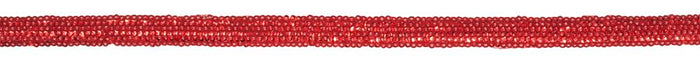 Sequin Trim: Iron On: Stripe: 10m x 15mm: Red