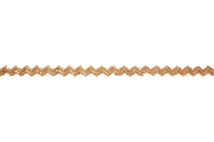 Sequin Trim: Iron On: Chevron: 10m x 15mm: Gold