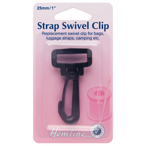 Swivel Clip: Black: 25mm: 1 Piece