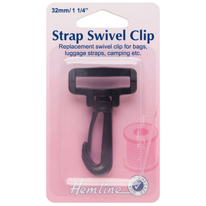 Swivel Clip: Black: 32mm: 2 Pieces