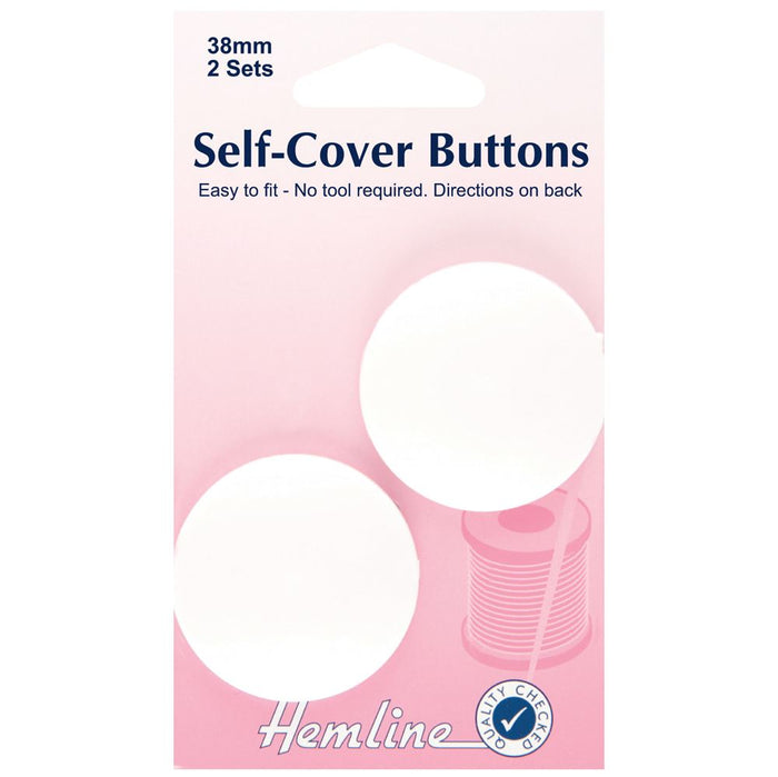 Self Cover Buttons: Nylon - 38mm