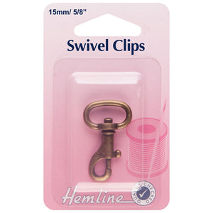 Swivel Clip: 15mm: Bronze