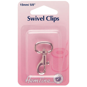 Swivel Clip: 15mm: Nickel