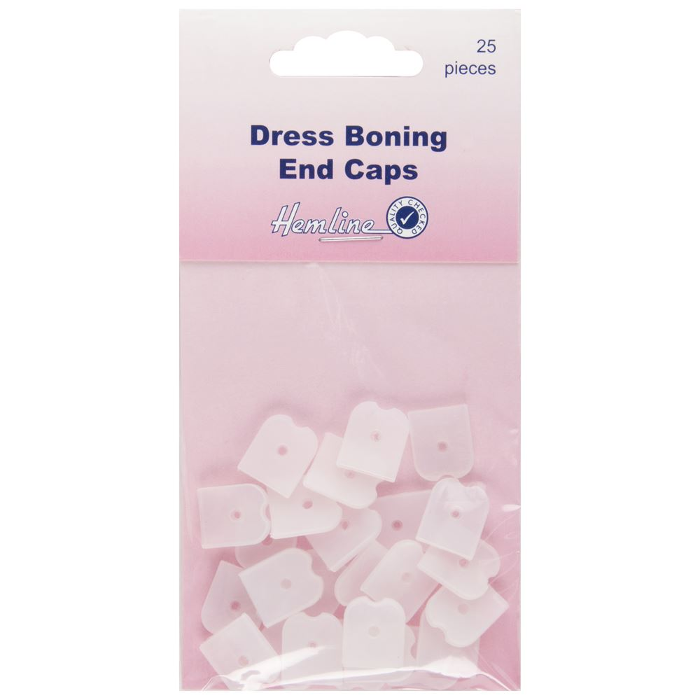Dress Boning End Caps: 12mm