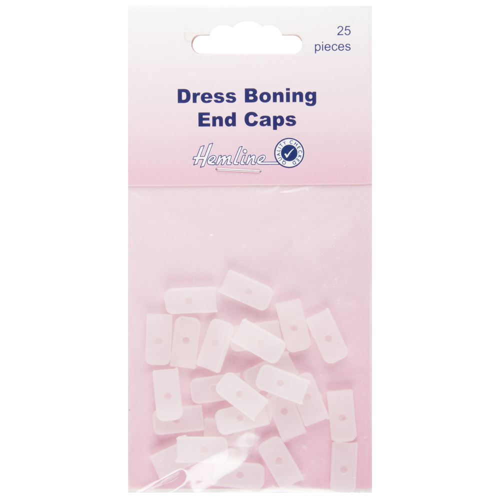 Dress Boning End Caps: 8mm
