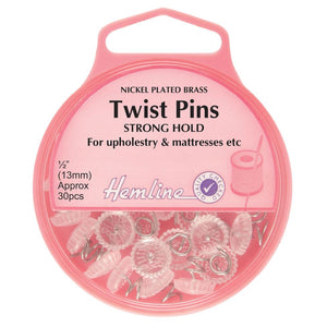 Twist Pins: Nickel - 13mm, 30pcs