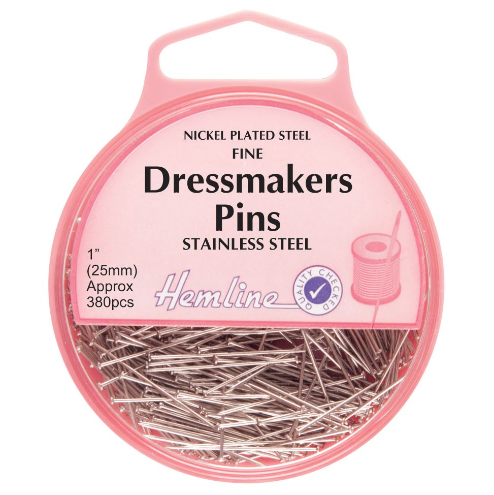 Fine Dressmakers Pins: Nickel - 25mm, 380pcs