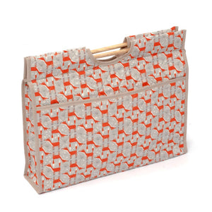 Classic Collection: Craft Bag with Wooden Handles: Fun Fox